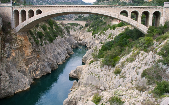 View from the Pont de Diable, Languedoc