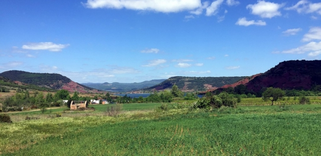 View over Lac Salagou: Road Cycling in Languedoc