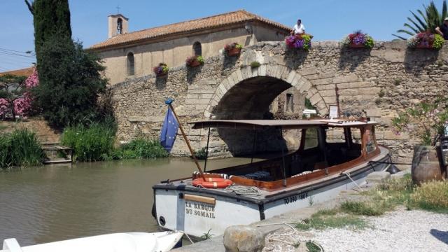 Stone Bridge at Le Somail on the Canal du Midi