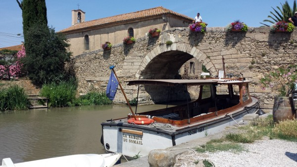 Stone Bridge at Le Somail on the Canal du Midi