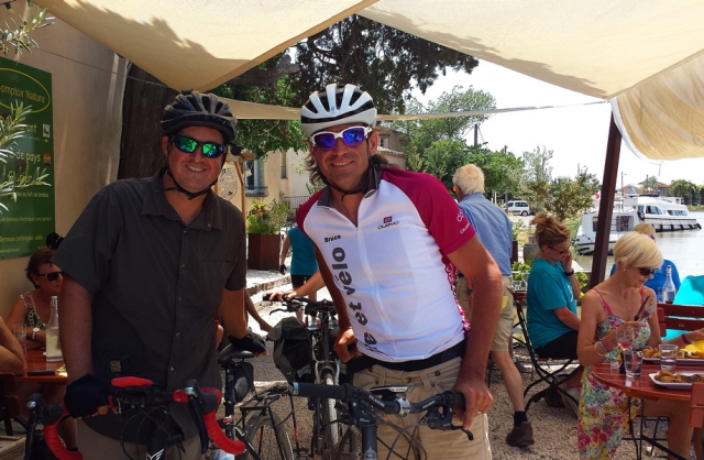 Lunch stop at Le Somail - Cycling the Canal du Midi