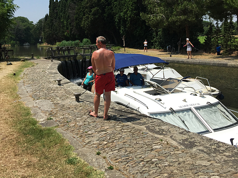 Boat Locks on the Canal du Midi