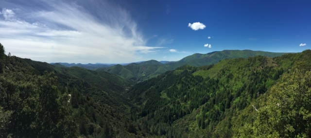 Cycling in Languedoc: View over the Cevennes