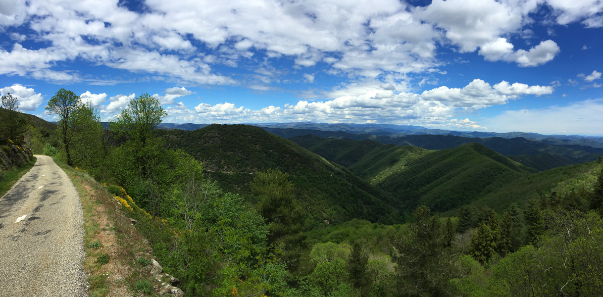 View from my road bike, Cevennes, Languedoc