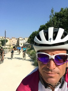 Day 3: Bruce leading his flock out of Narbonne