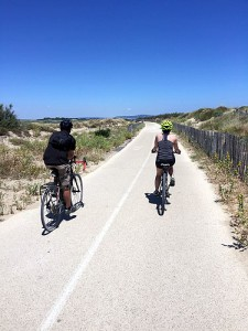 Day 4: Cycling in the dunes near Marseillan Plage