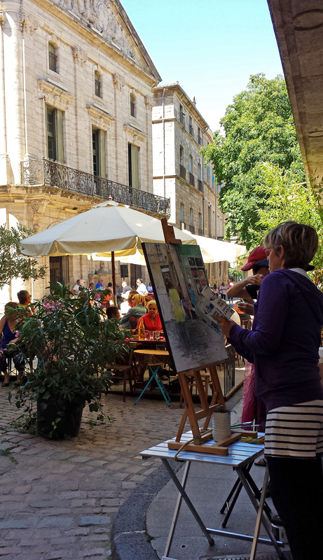 Artists in Pezenas, Languedoc