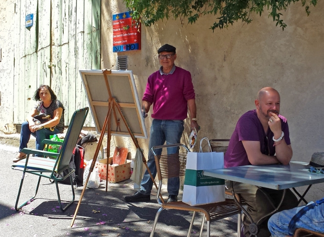 Street artist in Pezenas, Languedoc