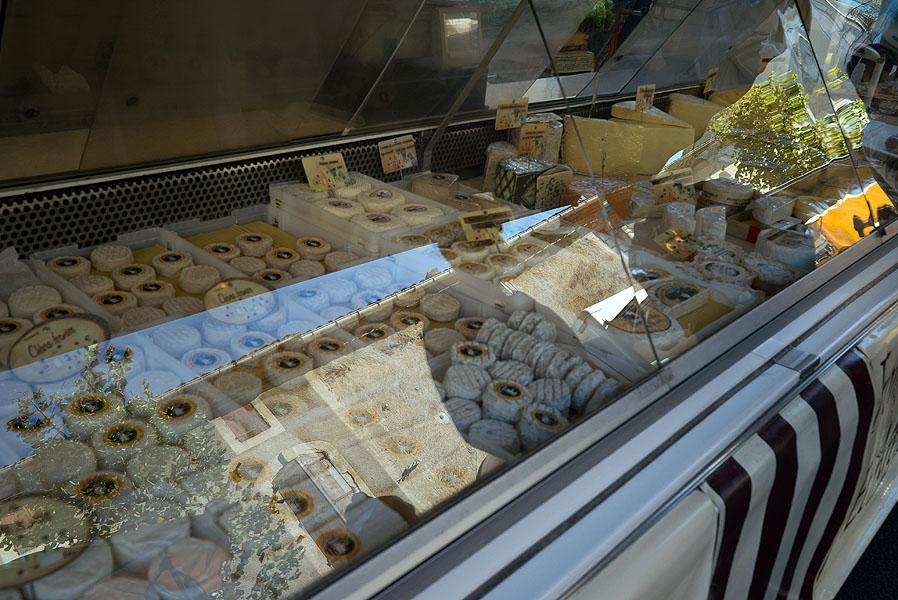 Cheese stall, Pezenas market, Languedoc