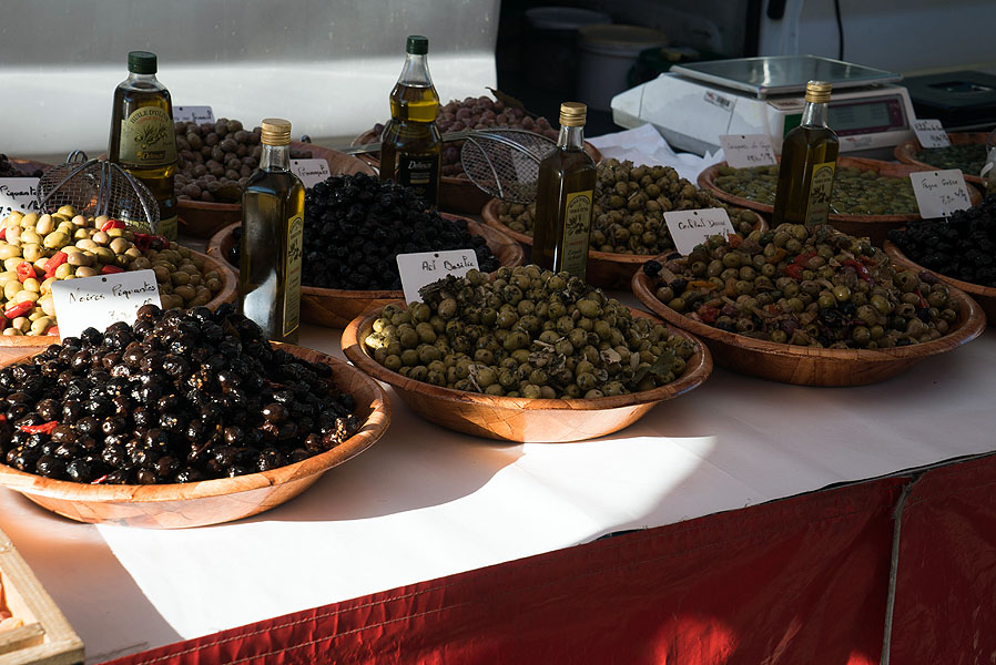 Market stall in Pezenas, Languedoc