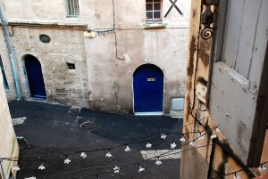 View over old Jewish Quarter in Medieval Pezenas, Languedoc