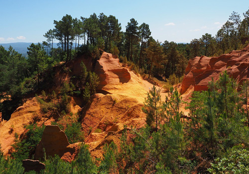 Ochre Cliffs in Parc Luberon, Provence