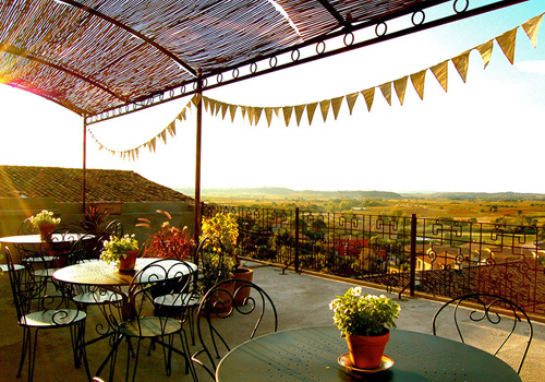 Cycle Tour Accomodation: Terrace at La Belle Vue, Languedoc