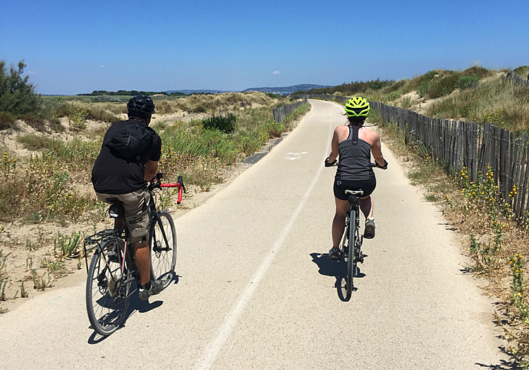 Bike Path on Med, Languedoc