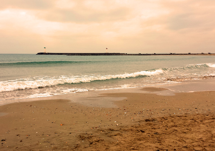 Beach at Grau d'Agde, Languedoc