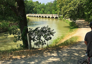 Cycling the Canal du Midi at Le Redorte, Languedoc