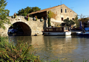 Le Somail on Canal du Midi, Languedoc