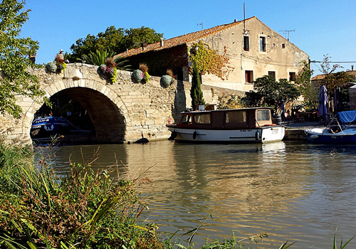 Le Somail on Canal du Midi, Languedoc